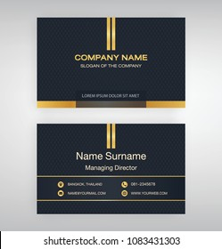 bussiness moden name card background Black Gold