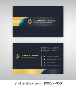 bussiness moden name card background Black gold blue