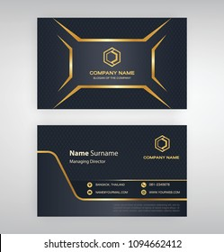 bussiness moden name card background Black