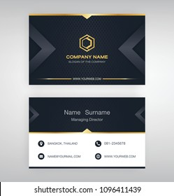 bussiness moden name card Black Gold