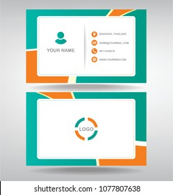 bussiness moden name card Orange green