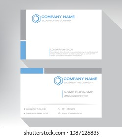 bussiness moden name card White blue Gray