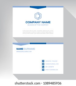 bussiness moden name card White Blue