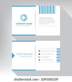 bussiness modern name card White blue