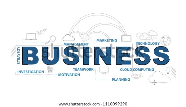 Bussiness text infographic design graphic concept. Vector Illustration. isolated over a white background