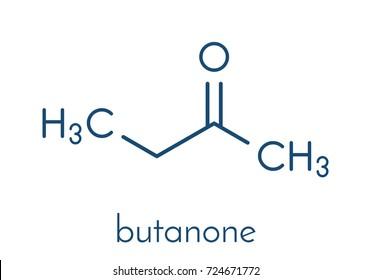 butanone methyl ethyl ketone mek industrial stock vector royalty