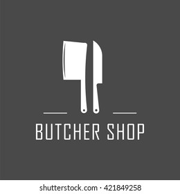 Butcher Shop icon, vector Butcher Shop logo, isolated Butcher Shop emblem