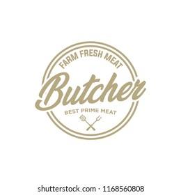 Butcher shop logo emblem for design. Vector illustration. EPS 10.