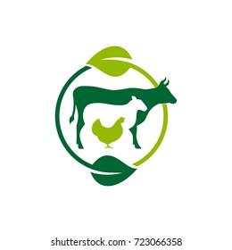 Butcher vector icon, Farm animals vector.