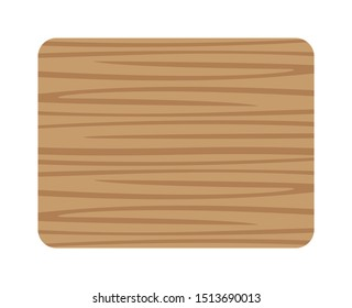 butcher wood square and corner rounded, wood board isolated on white background, planks wooden brown, empty wooden plank board, illustration plank brown wood texture, top view