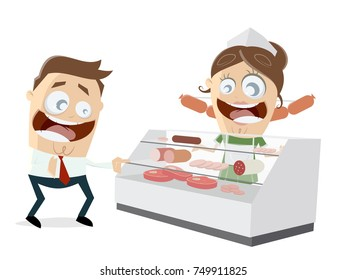 butcher's shop clipart