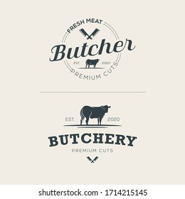 Butchery logo template Premium Vector