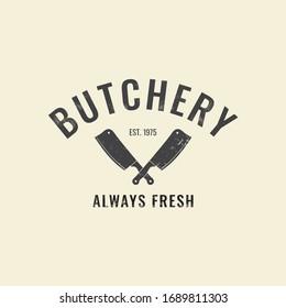 Butchery Shop Fresh Meat Logo Modern Template
