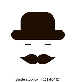 butler gentleman icon . vector