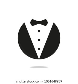 butler gentleman icon vector logo