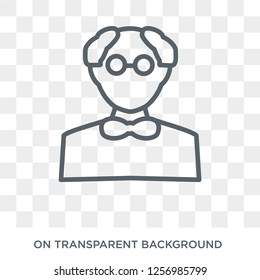 Butler icon. Trendy flat vector Butler icon on transparent background from Professions collection. High quality filled Butler symbol use for web and mobile