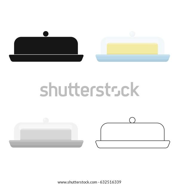 Butter icon cartoon. Single bio, eco, organic product icon from the big milk cartoon.