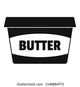 Butter plastic pack icon. Simple illustration of butter plastic pack vector icon for web design isolated on white background