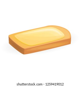 Butter toast icon. Cartoon of butter toast vector icon for web design isolated on white background
