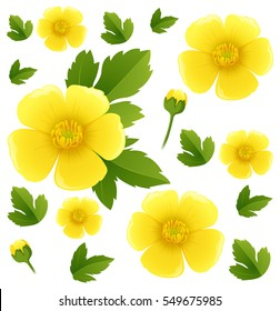 Buttercup seamless pattern
