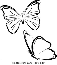 drawing butterfly images stock photos vectors shutterstock