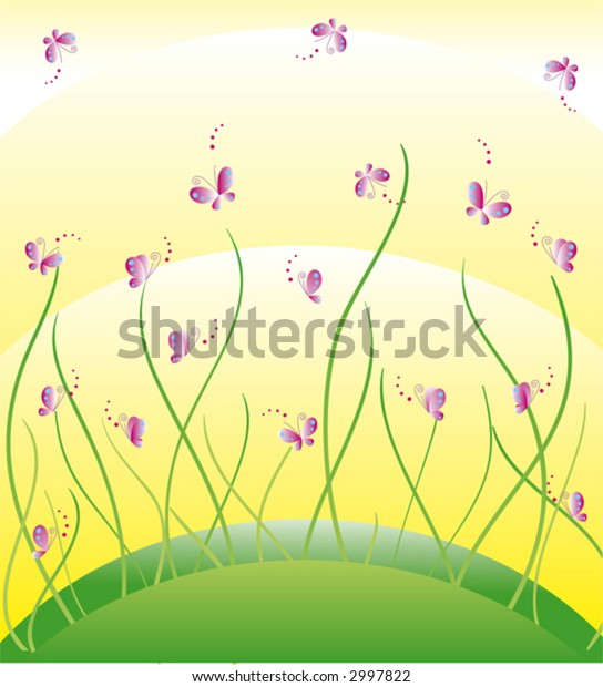 butterflies and meadow