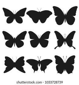 Butterfly Animal Silhouette Clip Art Design Vector Set