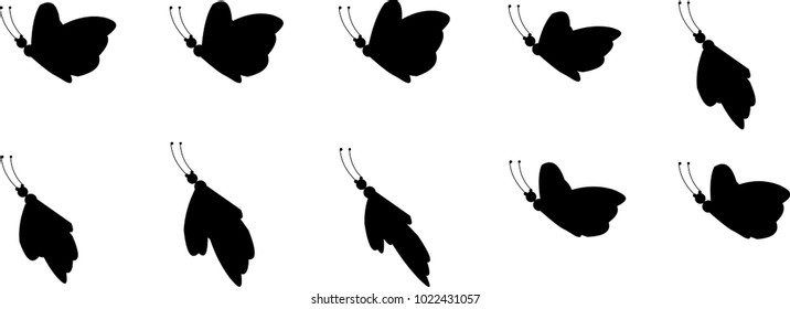 Butterfly animation sprite sheet