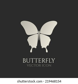 Butterfly conceptual icon. Logo. Vector illustration