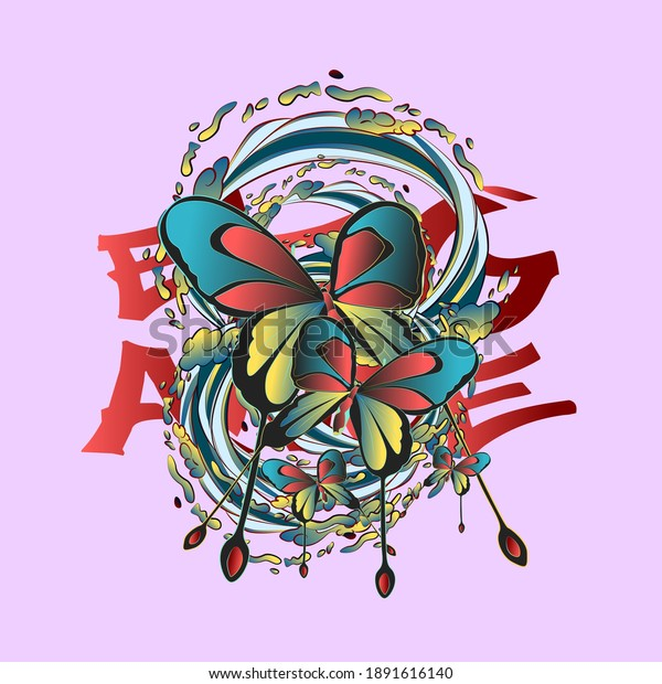 butterfly design for sukajan is mean japan traditional cloth or t-shirt with digital hand drawn Embroidery Men T-shirts Summer Casual Short Sleeve Hip Hop T Shirt Streetwear