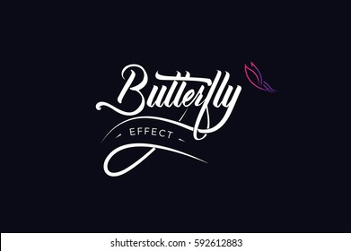 Butterfly Effect Hand Lettering vector