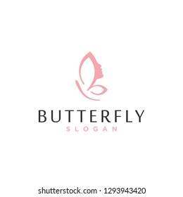 butterfly face logo design