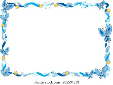 butterfly border images  stock photos   vectors shutterstock clip art borders free clip art borders and frames