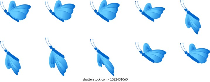Butterfly flying animation sprite sheet