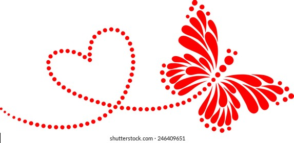 Butterfly, Heart, Forever Love, Valentine´s Day