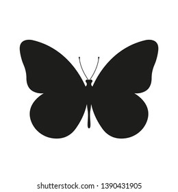 Butterfly icon or silhouette. Vector illustration.