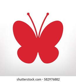 butterfly icon, vector
