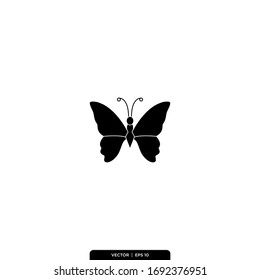 Butterfly Icon Vector Illustration Logo Template