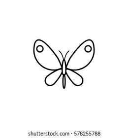 Butterfly line icon, spring & easter elements, insect sign, a linear pattern on a white background, eps 10.
