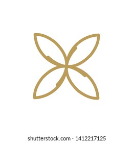 Butterfly logo design with line art-vector