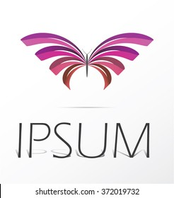 Butterfly logo design, vector symbol.