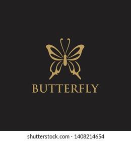 Butterfly logo design vector template