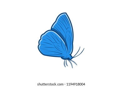 Butterfly Logo Designs Inspiration Isolated on White Background