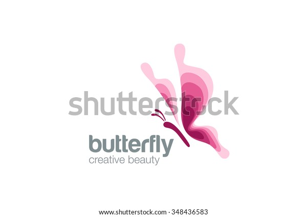 Butterfly Logo Fashion Beauty Salon design vector template. Creative symbol Logo Flying Butterfly elegant Logotype concept beautiful icon.