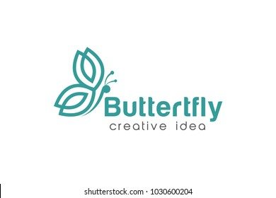 Butterfly Logo and Icon Template Vector