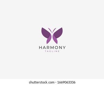 Butterfly logo. Luxury line logotype design. Universal premium butterfly symbol logotype.