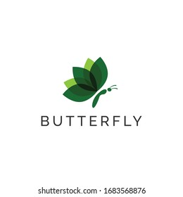 Butterfly logo - Butterfly nature logo design