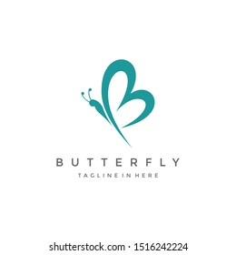 butterfly logo Royalty Free Vector Image