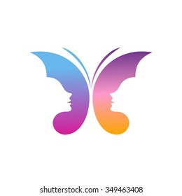 Butterfly Logo Template. Abstract beauty and fashion logo template