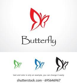 Butterfly Logo Template Design Vector, Emblem, Design Concept, Creative Symbol, Icon